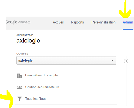 capture dans les Google Analytics