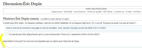capture de Wikipedia